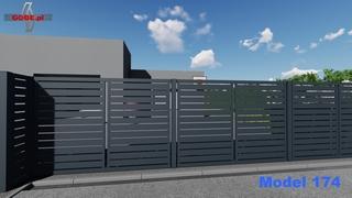 prosty model ogrodzenia na słupkach stalowych